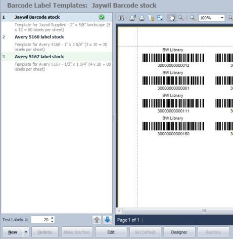 barcode templates